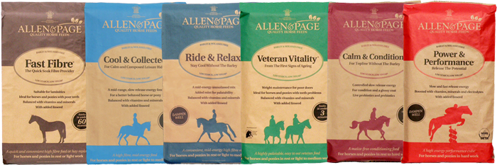 The Allen & Page Quality Horse Feeds Range